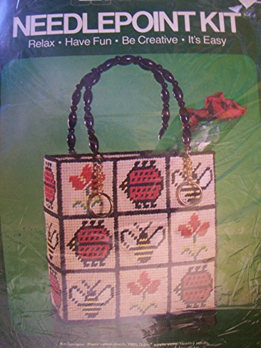 Bugs & Flowers Tote Needlepoint Kit