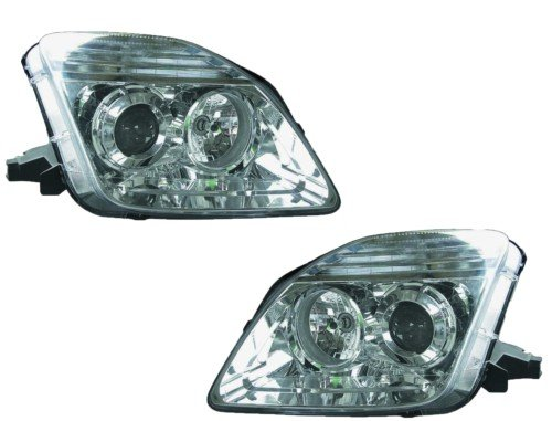 Honda Prelude Replacement Headlight Assembly (Projector Chrome) - 1-Pair