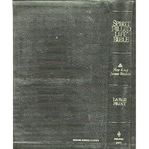 Spirit Filled Life Bible NKJV Large Print Black Bonded Leather Nelson 2355