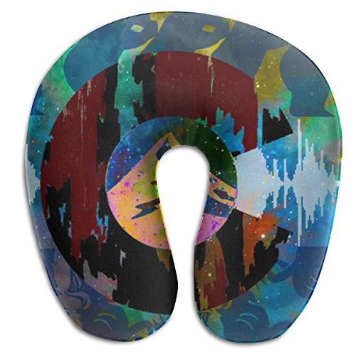 NiYoung Compact Neck Pillow Colorful Colorado Flag Large Travel Pillow Supports The Head Sleeping Rest Cushion, Breathable & Comfortable, Travel Car Restful Sleep Neck Pillow ()