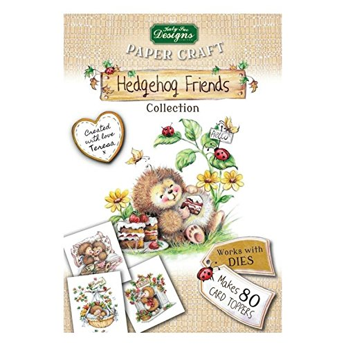 Hedgehog Friends Collection, Card Making Kit, Makes 80 Card Toppers, Works with Dies