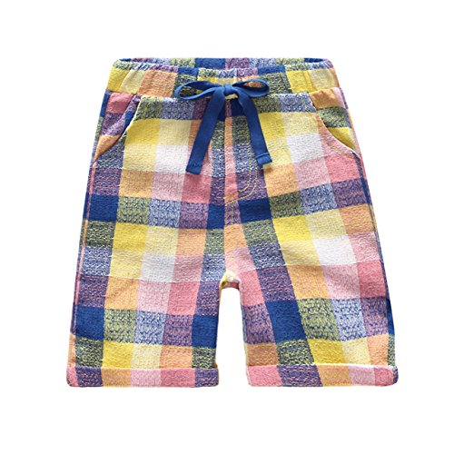 Gotend Little Boys Athletic Shorts Active (Multi Plaid Short)