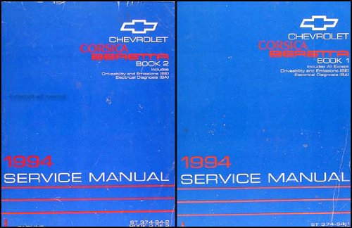 1994 Chevrolet Corsica and Beretta Repair Shop Manual Original Set
