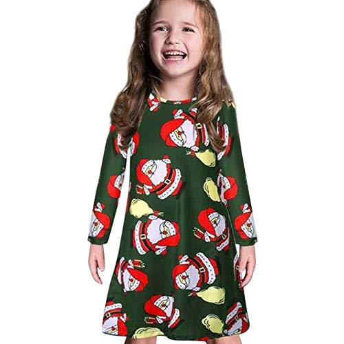 GoodLock Clearance!! Baby Boys Girls Christmas Dress Toddler Kids Long Sleeve Cartoon Print Dress Clothes (Green, 18 Months) by GoodLock (Image #9)