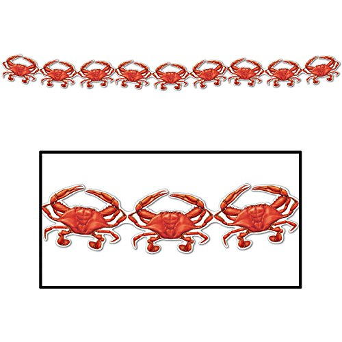 HAPPY DEALS ~ Set of 2 Crab Streamer Garlands - 6 feet Each