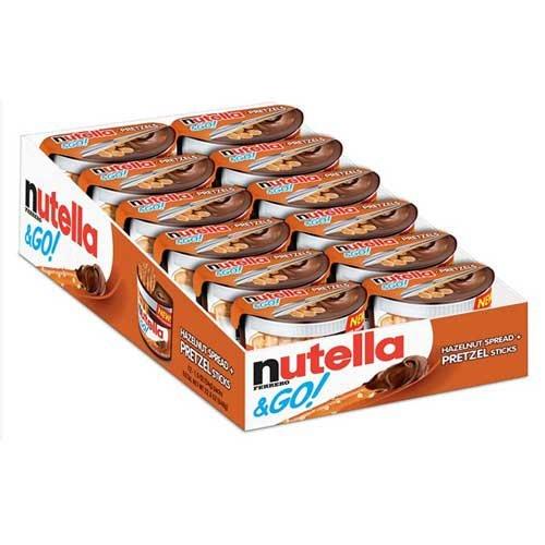 Nutella Hazelnut Spread Plus Pretzels, 1.9 Ounce -- 48 per case.