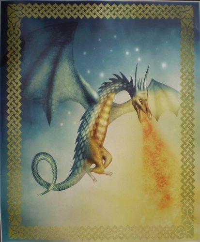 Fire Breathing Dragon Super Soft Fleece Throw Blanket Gift Idea 50x60