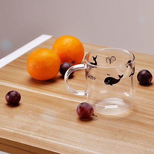 Whale Glass Tea Mug
