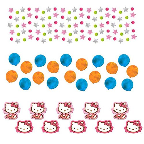 Amscan Hello Kitty Birthday Party Confetti Value Pack Decoration 1 Piece Multicolor 1.2 oz