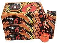 3 Dozen Bridgestone e6 Straight Distance 36 Golf Balls - Optic Orange