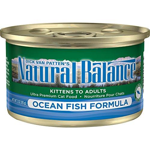 Large Fish Formula - Natural Balance Ocean Fish Formula Wet Cat Food, 3-Ounce Can (Pack Of 24)