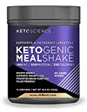 Keto Science Ketogenic Meal Shake Vanilla Dietary Supplement, Rich in MCTs and Protein, Keto and Paleo Friendly, 18.8 oz, 14 Servings