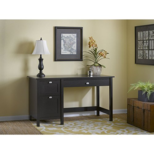 2 Drawer Oak Computer Desk (Bush Furniture Broadview Computer Desk with 2 Drawer Pedestal, Espresso)