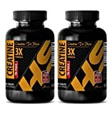 Workout supplements for men weight loss - CREATINE TRI-PHASE (3X FORMULA) - Creatine pills monohydrate - 2 Bottles 180 Tablets