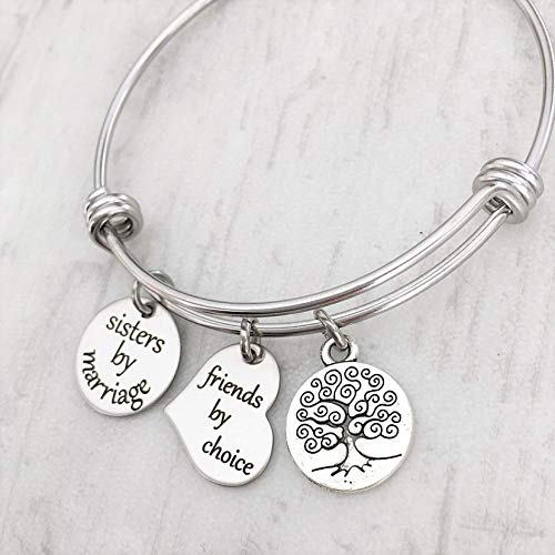 Sister in Law Charm Bracelet Gift for Woman