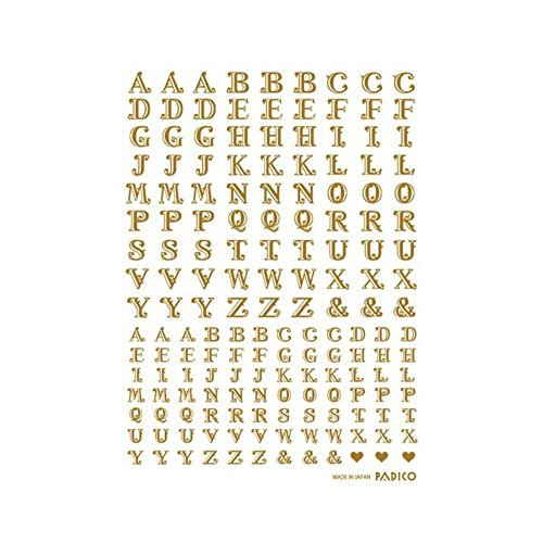 Made in Japan Decal Sticker Set, 4 Seat, Alphabet Capital Letter -