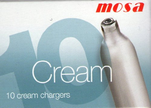 Mosa Sahnebereiter 0,5 l, weiß inklusive 10 Sahnekapseln