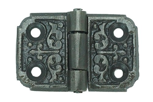 Pair of Small Ornate Cabinet Hinge