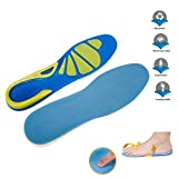DOGDAN Memory Foam Orthopedic Silica Gel Shoe Insole, Sport Running Athletic Basketball Shoe Insoles Pads Inserts Pain Relief, Sports Insoles, Unisex Shoes。 (2-6 US, Green/Blue)