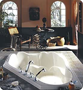 Neptune Orphee 54 Corner Drop In Podium Soaker Tub 53 3 4 L X 53 3 4 W X 20 1 4 H Or54