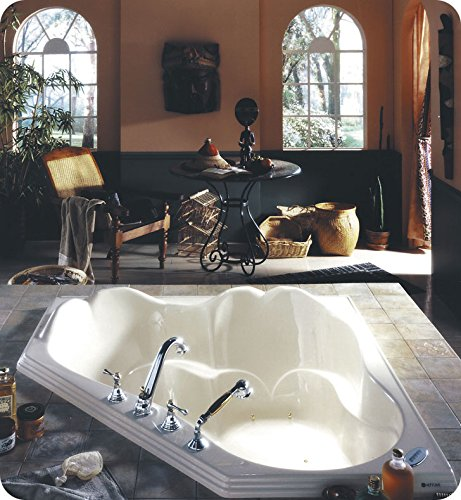 NEPTUNE ORPHEE 54 CORNER DROP-IN PODIUM SOAKER TUB, 53-3/4