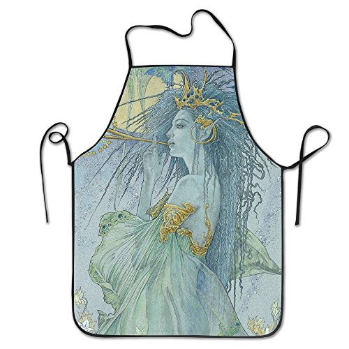 Novelty Greek Goddess Unisex Kitchen Chef Apron - Chef Apron For Cooking,Baking,Crafting,Gardening And BBQ