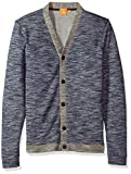 BOSS Orange Men's Wasn Cardigan, Navy Blue, Medium