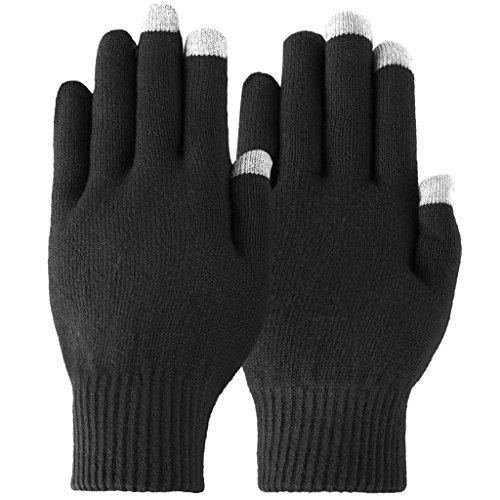 Touch Screen Gloves Unisex Wool Warm gloves ( Black) - 4