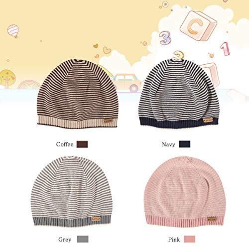 LETTAS Unisex Baby Beanie Hat Cotton Skull Caps Toddlers Knitted Caps Nursery Beanie Infant Beanies for 24-48 Months