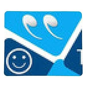 alfombrilla de ratón Testimonios de dos cuadrados azules - rectangular - 23cm x 19 cm