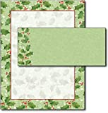 Jolly Holly Letterhead & Envelopes - 40 Sets