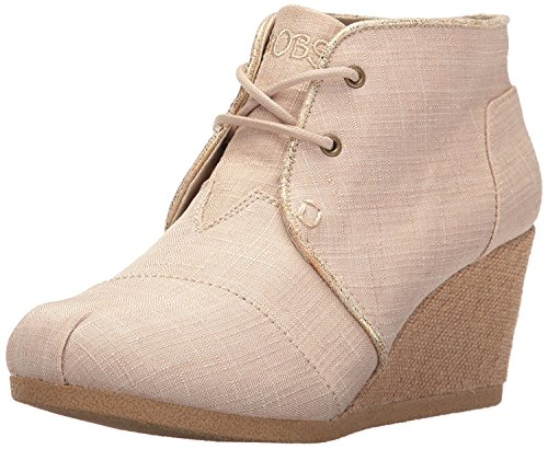 Skechers BOBS Women's High-Notes-Fancy Fresh Ankle Bootie, Natural, 7 M US