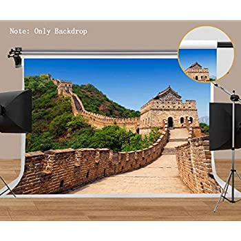 MEETS 7x5ft World Famous Architecture Backdrop Great Wall of China Vintage Brick Wall Background Photo booth studio props YouTube Backdrop MT418