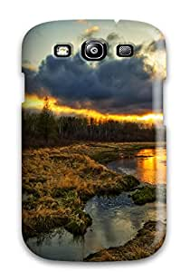 4683469K57254954 Quality Case Cover With Landscape Earth Nice Appearance Compatible With Galaxy S3