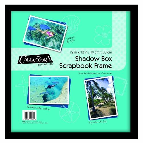 MCS 12 x 12 Scrapbook Shadow Box in Black (Scrapbook Box Shadow)