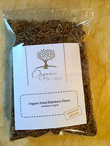 Organic Bio Herbs-Organic Dried Elderberry Flower (Sambucus Nigra) 4 Oz. (Dried Flowers Herbs)