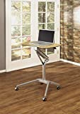 Calico Designs 51235.0 Ridge Mobile Desk with Sit to Stand Up Pneumatic Cart, Silver/Maple Review