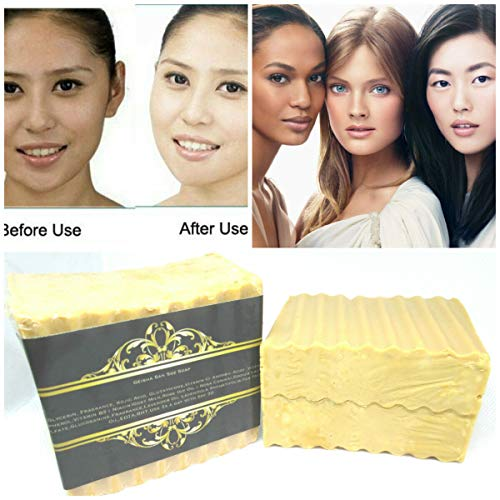 Geisha San-Glutathione & Kojic Acid Whitening Bleaching-Natural-Skin  Lightening Soap-Highly Effective For Scar Removal- Anti-aging,Tea Tree