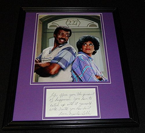 Marla Gibbs Signed Framed 11x14 Note & Photo Display 227 - JSA Certified