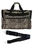 19-inch Travel Duffle Bag | Multiple Designs to Choose From | Perfect Travel Size Duffel Bag by Unique Traveler (Leopard-Black Trim)