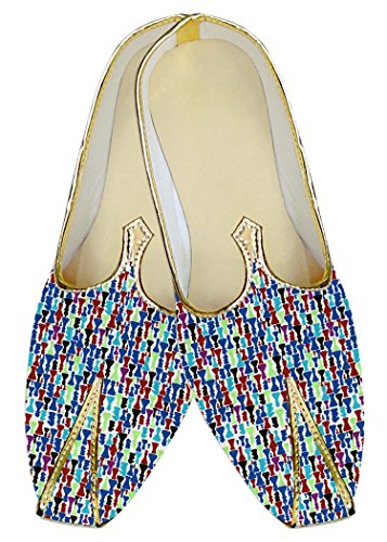 Multi Azul Boda Diseño Impresa Zapatos Hombres En Mj014448 Inmonarch YEq1fRx