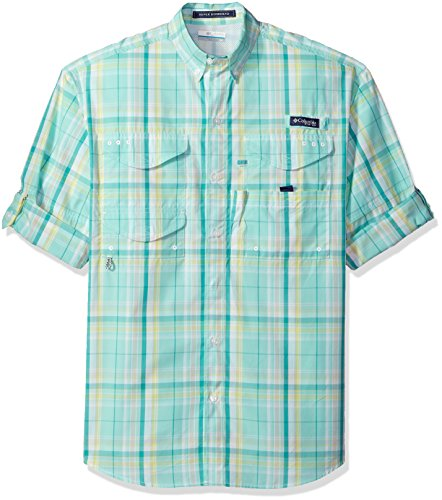 Columbia Mens Super Bonehead Classic Long Sleeve Shirt, Miami Plaid, Large