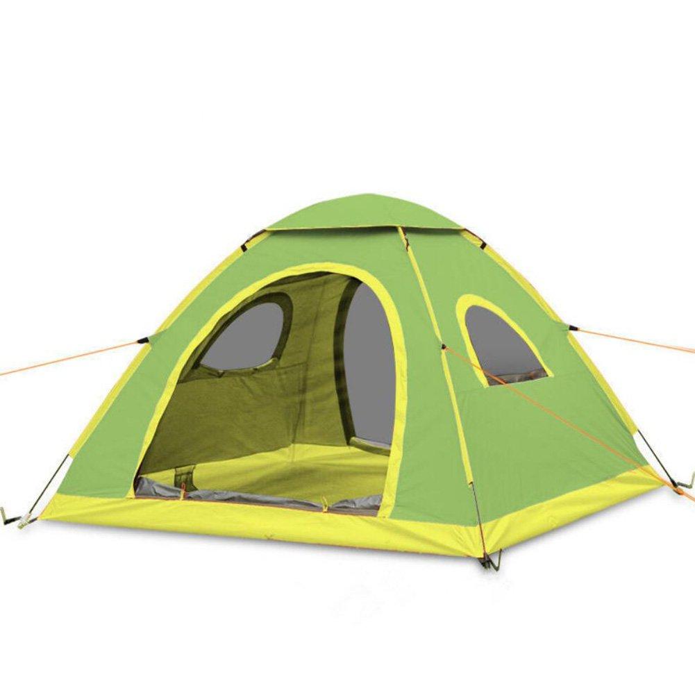 Promoción por tiempo limitado Tienda al aire libre impermeable portátil plegable de la tienda al aire libre para caminar el camping durable de la bóveda que sube para la tienda de campaña de 3-4 personas ( Color : B )