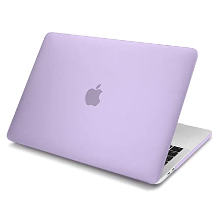 buy popular 2f9f1 236b7 Case Compatible for New MacBook Air 13 inch 2018 Release Model A1932 with  Touch ID Retina Display Batianda Matte Frosted Hard Shell Cover (Purple)