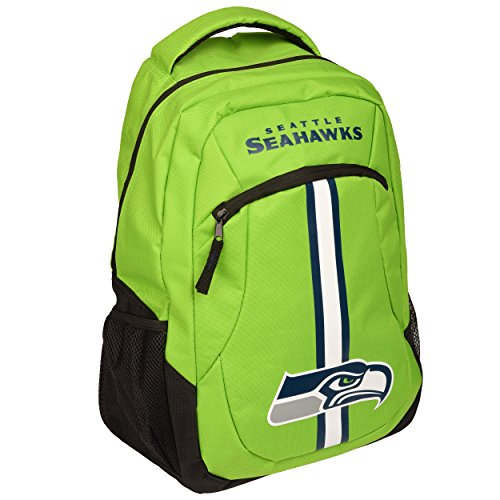 TBFC 2017 NFL Action Backpack School Gym Bag - Seattle Seahawks by TBFC