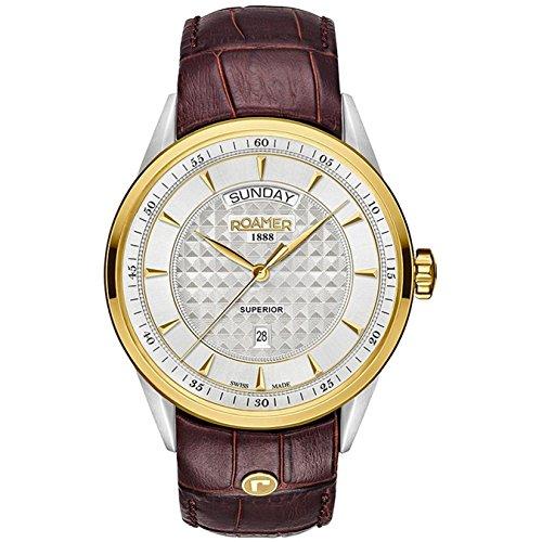 Roamer SUPERIOR DAY DATE 508293 47 15 05 Mens Wristwatch Swiss Made