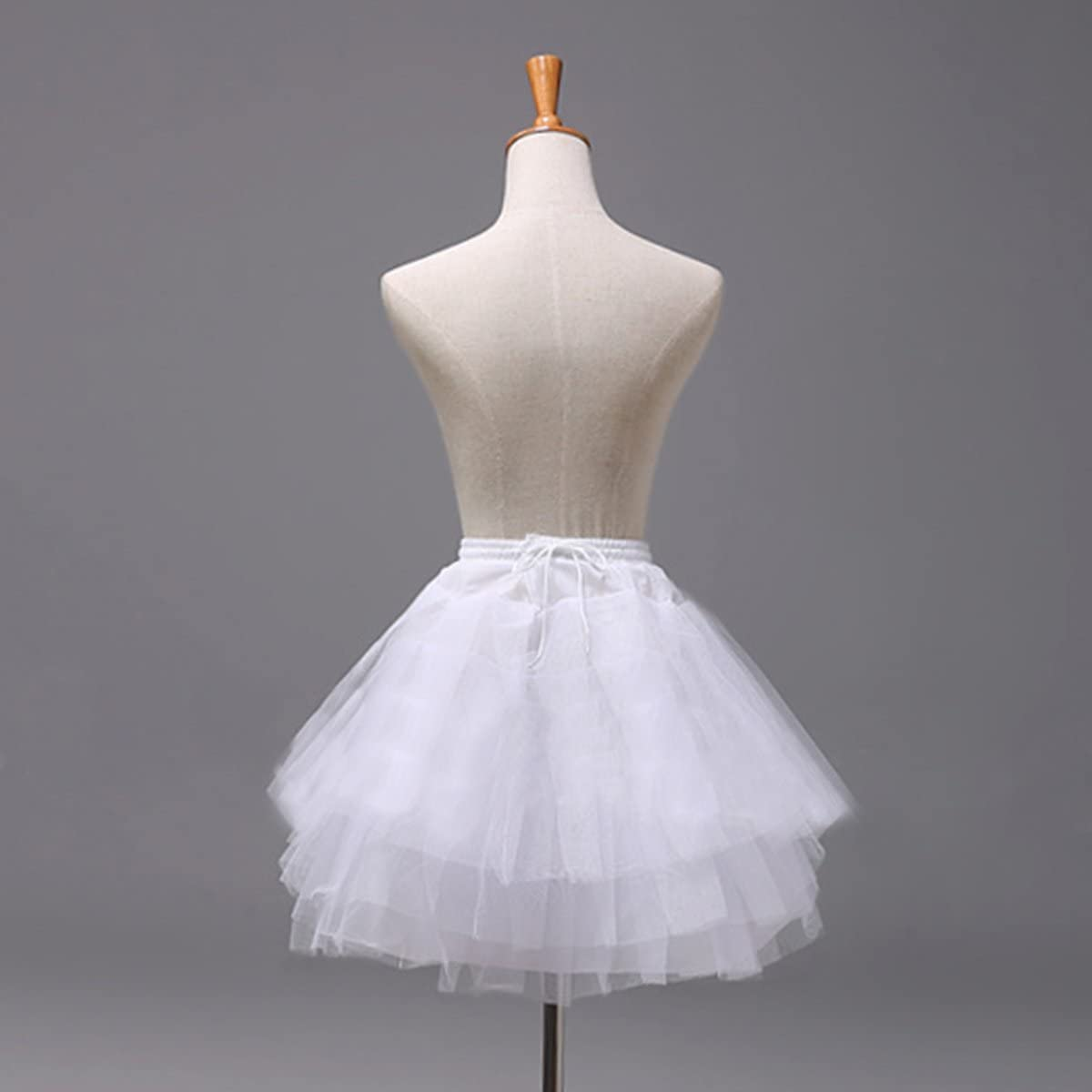 inhzoy Kids Princess Flower Girls Wedding Dress Petticoat 3 Layers Net Crinoline Underskirt Slip
