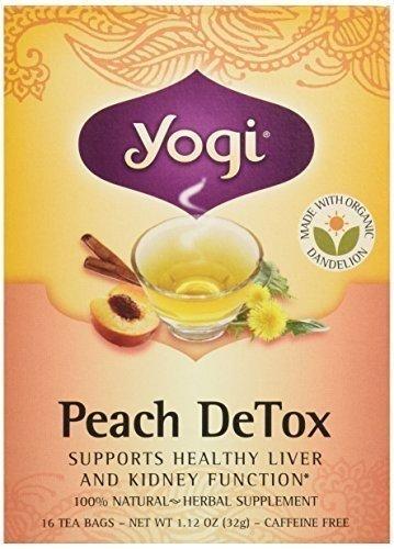 YOGI TEA,OG3,PEACH DETOX, 16 BAG