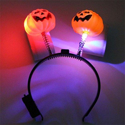 MinerTech Halloween Party Props Headbands Dress up Accessories LED Pumpkin Skull Light (Easy Halloween Costumes For Adults Video)