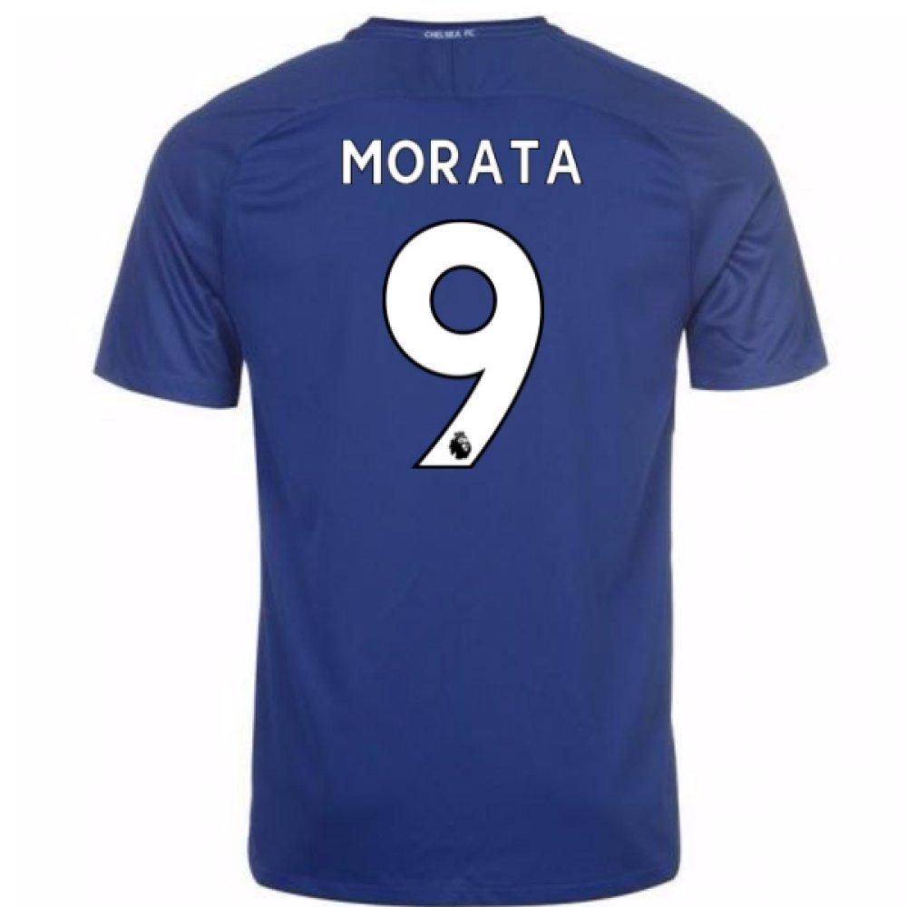 2017-18 Chelsea Home Shirt (Morata 9) Kids B077VKP2HTBlue MB 27-29\